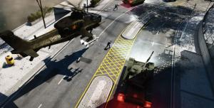 Геймплей Battlefield 4 в кабине танка и вертолета