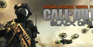 Black Ops 2: оружие, модули, перки, умения