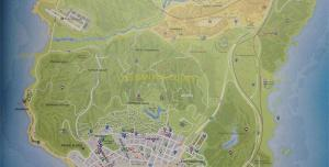 GTA 5 - Карта мира нового Grand Theft Auto