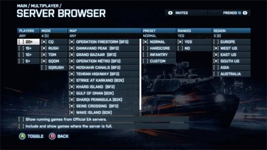 XBOX360 и PS3: обновление плейлиста серверов
