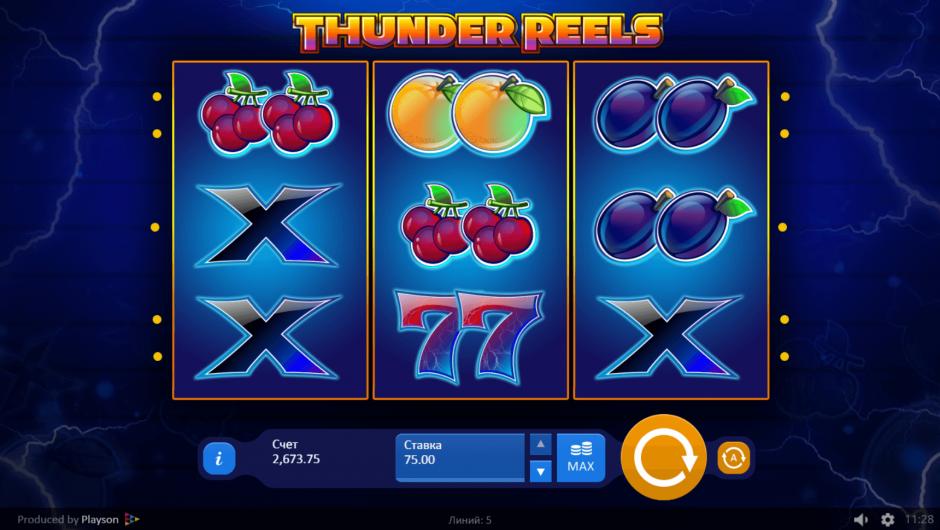 Обзор игрового аппарата Thunder Reels