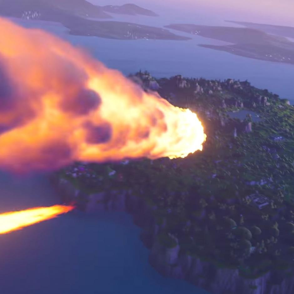В Fortnite упала комета, которая разрушила часть карты