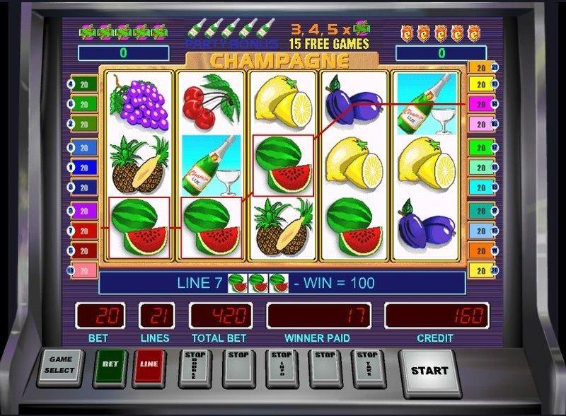 Обзор игрового автомата Champagne Casino Technology от клуба Фреш