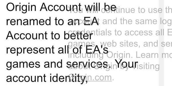 Скоро все аккаунты Origin будут переименованы в EA Account