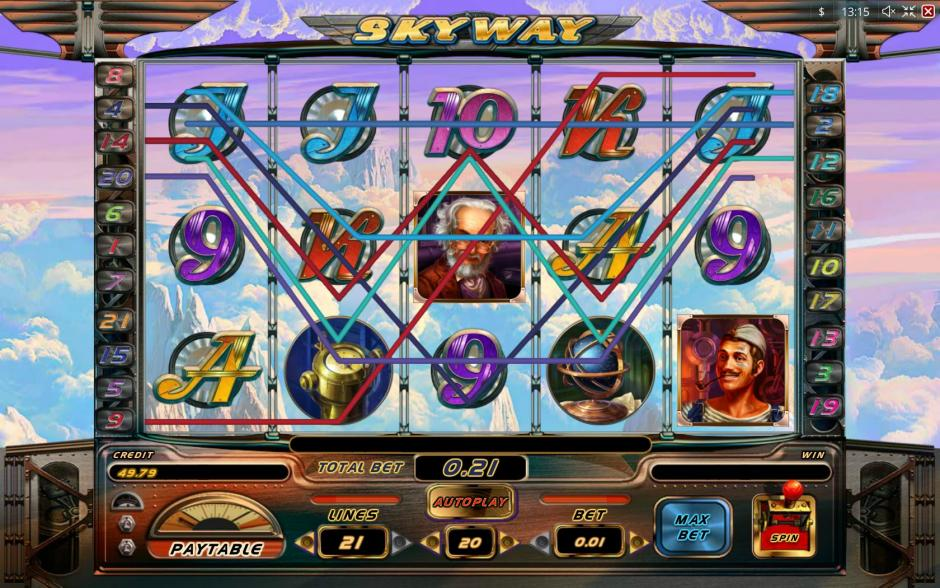 Skyway (Воздушная линия) – популярный игровой аппарат в Спин Сити