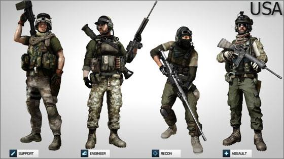 Классы в Battlefield 3