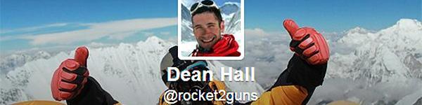 Дин Rocket Холл вещает из Твиттера