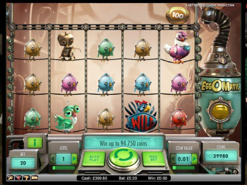 Символика игрового автомата Eggomatic из GMSlots Deluxe