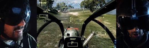 Как нужно летать на вертолете в Battlefield 3