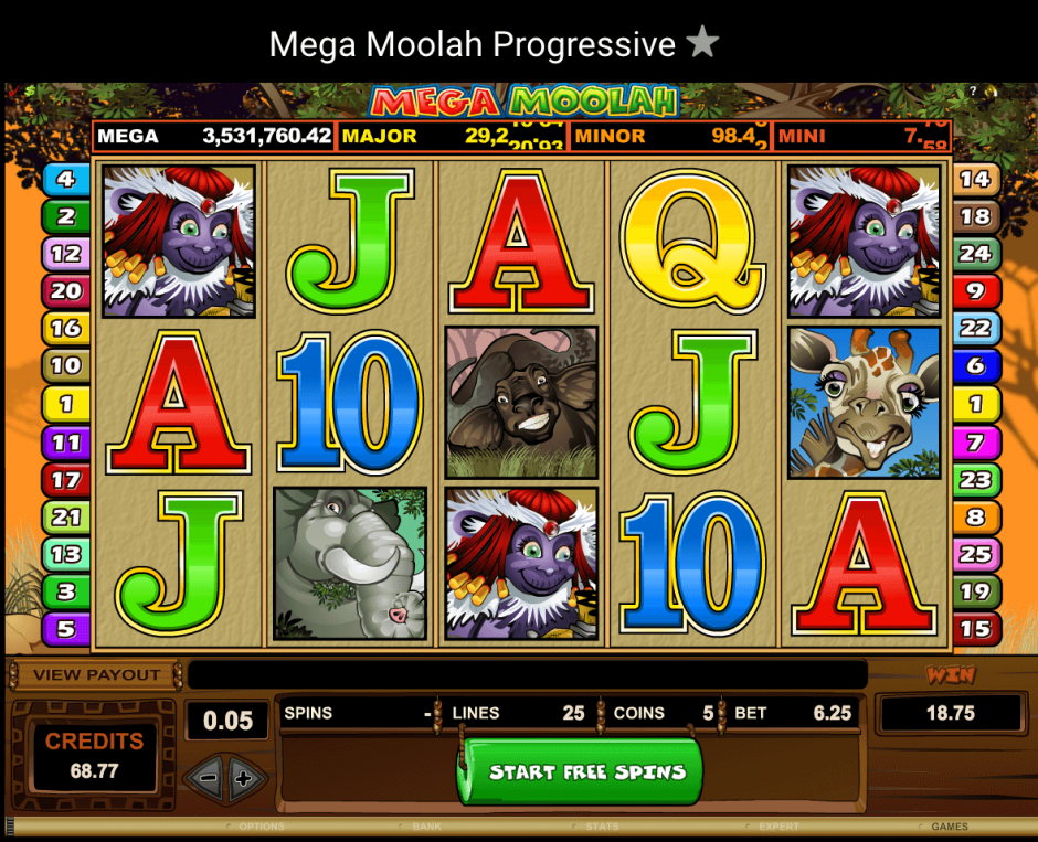 Игровой автомат Mega Moolah от Вулкан